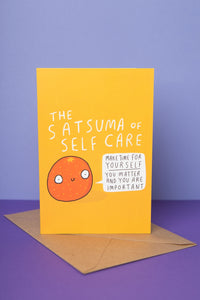 Satsuma of self care greeting card - Greetings Card - Spiffy