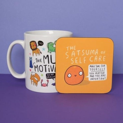 Satsuma of Self Care - Coaster by Katie Abey - Happy Coasters - Spiffy
