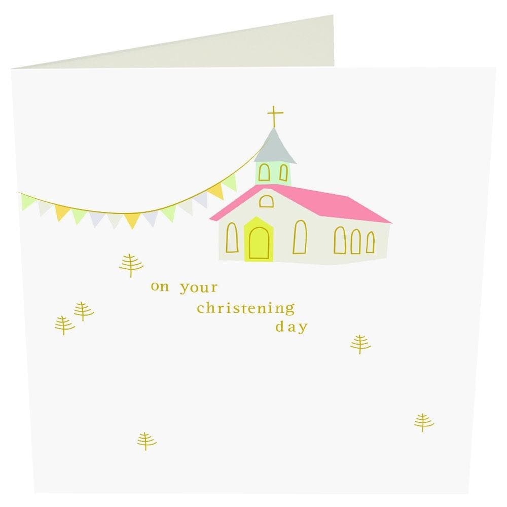 """On your Christening Day"" Christening Card by Caroline Gardner - Spiffy"
