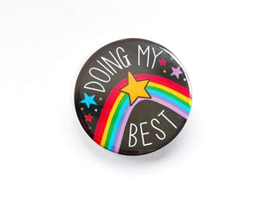 Doing My Best Button Badge - Pin Badges - Spiffy