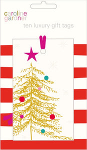 Gold Tree Tags pk 10 - Gift Tags by Caroline Gardner - Tags - Spiffy