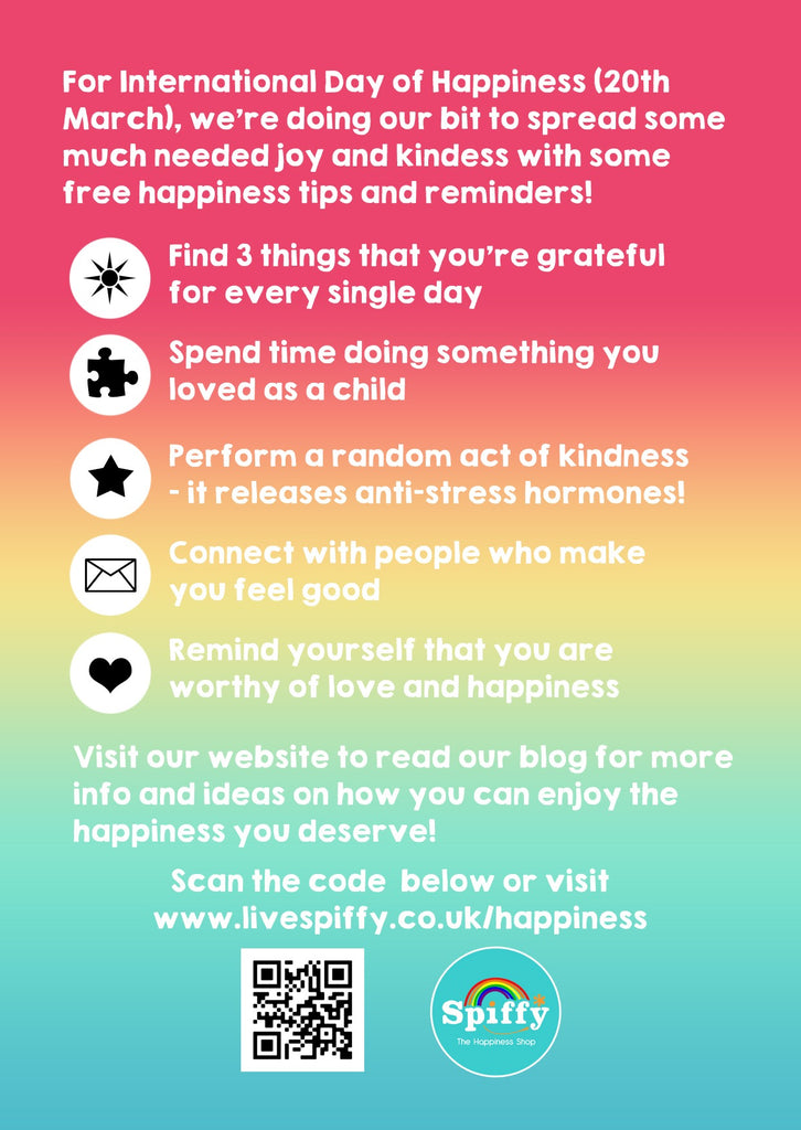 International Day of Happiness Postcards (Pack of 10) - Spiffy