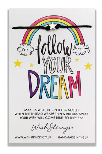 Follow Your Dream - Wishstrings Wish Bracelet - Spiffy