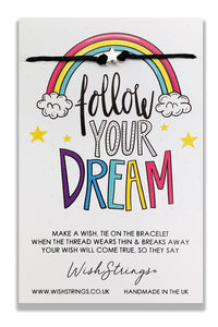 Follow Your Dream - Wishstrings Wish Bracelet - Wish Bracelets - Spiffy