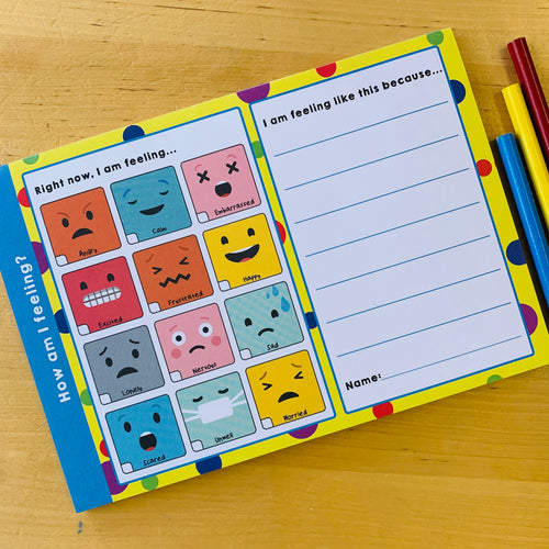 How Am I Feeling? A5 Notepad - Notepads - Spiffy
