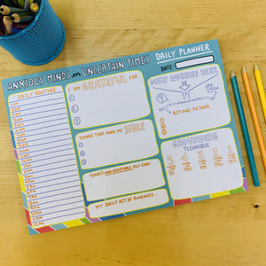 Anxious Minds in Uncertain Times A4 Planner - Spiffy