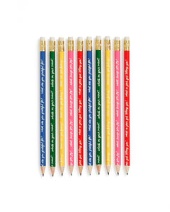 How Are You Feeling? Pencil Set - Affirmation Pencils - Spiffy