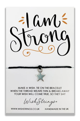 I Am Strong - Wishstrings Wish Bracelet - Spiffy
