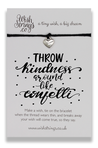 Throw Kindness - Wishstrings Wish Bracelet - Wish Bracelets - Spiffy