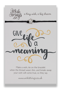Give Life Meaning - Wishstrings Wish Bracelet - Wish Bracelets - Spiffy