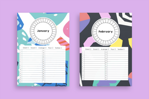 12 Month Mood Tracker Worksheets *DIGITAL DOWNLOAD*