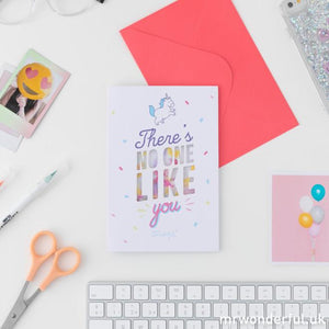 There's No One Like You - Paper Confetti Greetings Card - Spiffy