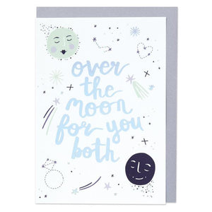 """Over The Moon For You Both"" Wedding/Engagement Card - Cards - Wedding and Engagement - Spiffy"