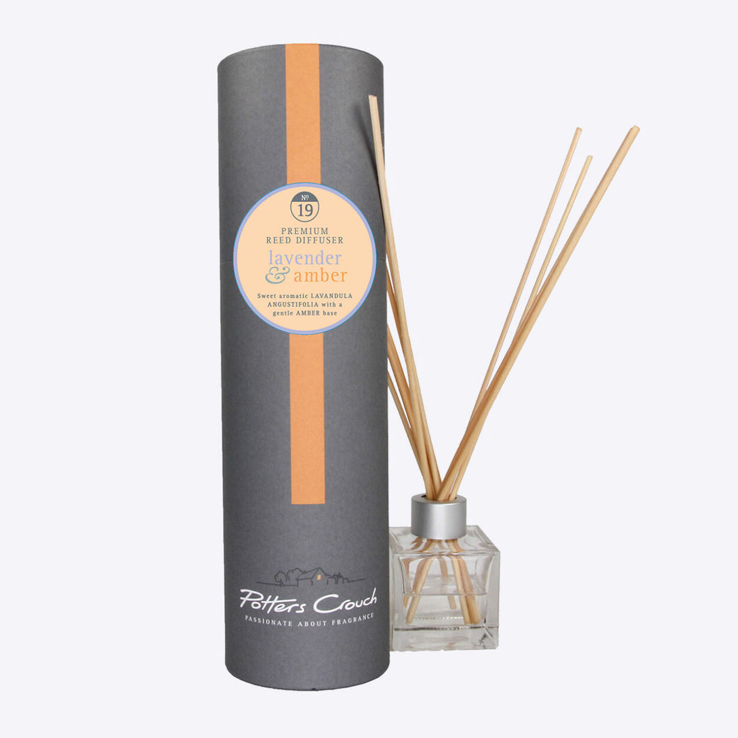 Potters Crouch Lavender & Amber Luxury Reed Diffuser - Reed Diffusers - Spiffy