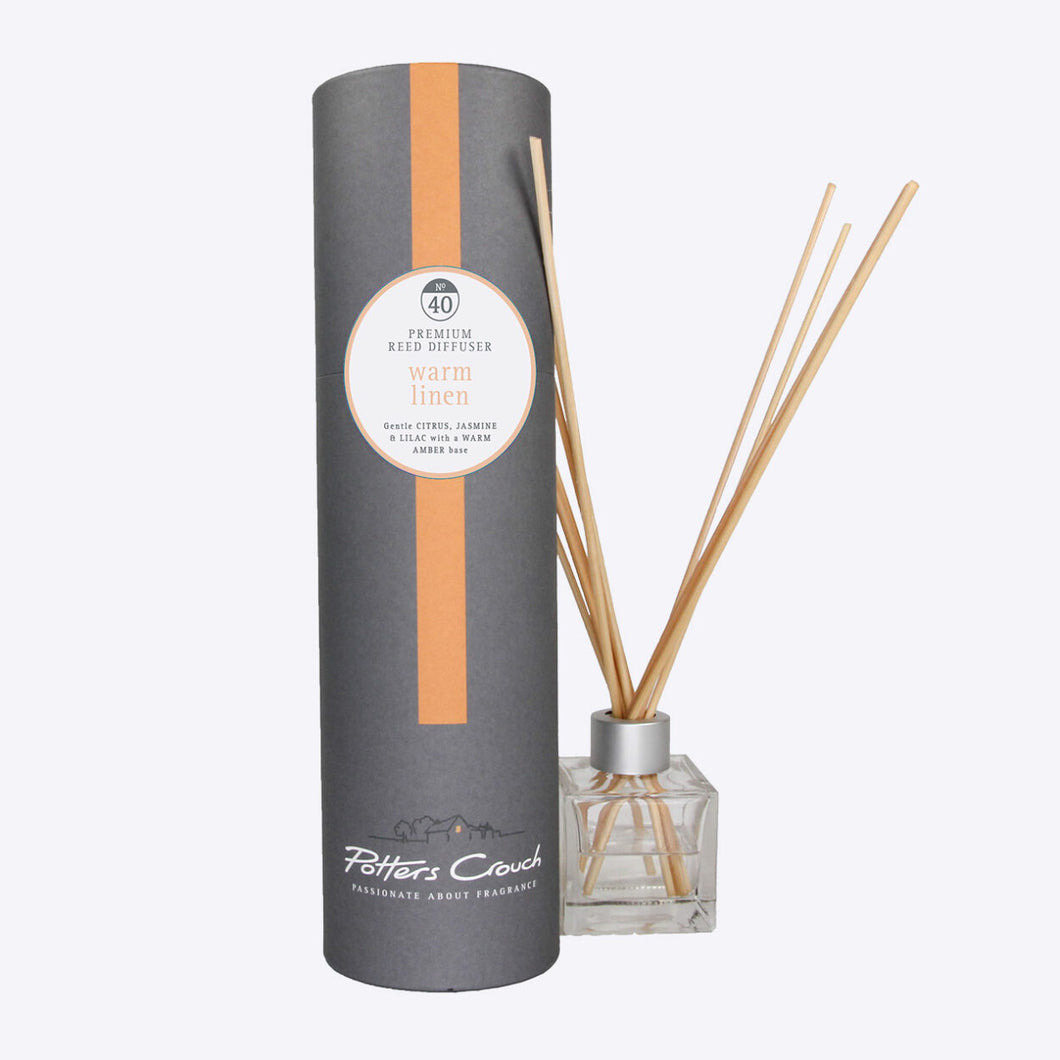 Potters Crouch Warm Linen Luxury Reed Diffuser - Reed Diffusers - Spiffy