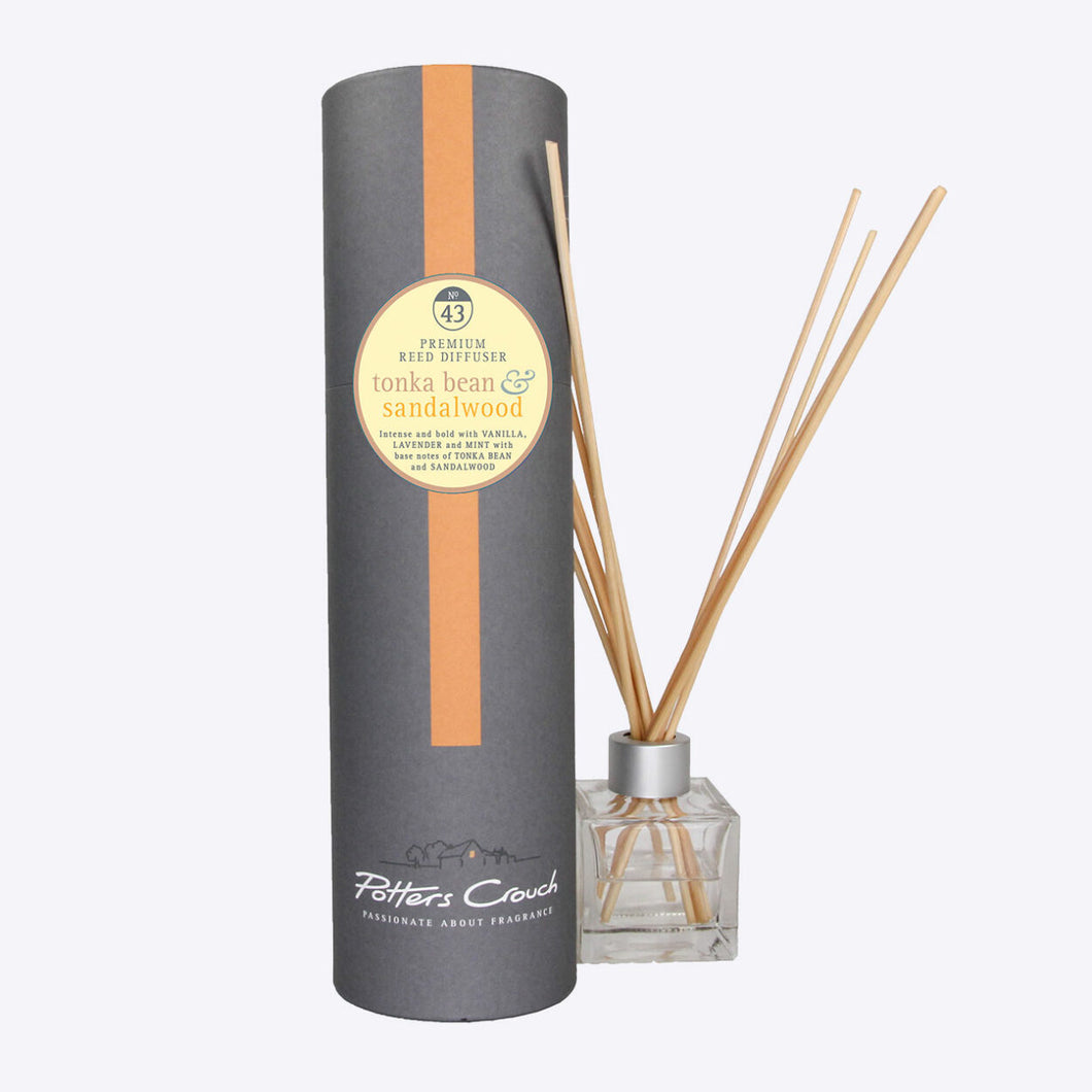 Potters Crouch Tonka Bean and Sandalwood Luxury Reed Diffuser - Reed Diffusers - Spiffy