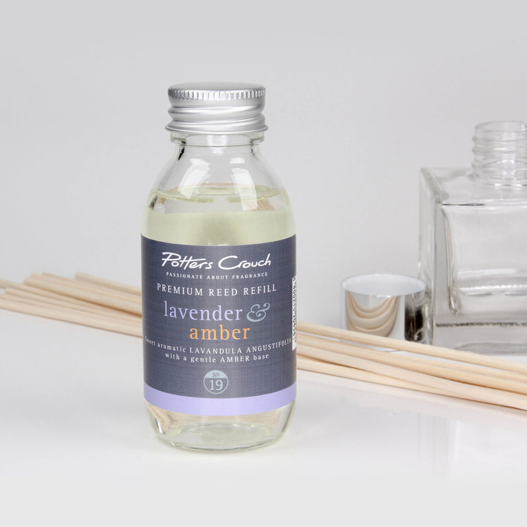 Potters Crouch Lavender & Amber Luxury Diffuser Refill (100ml) - Reed Diffuser Refills - Spiffy