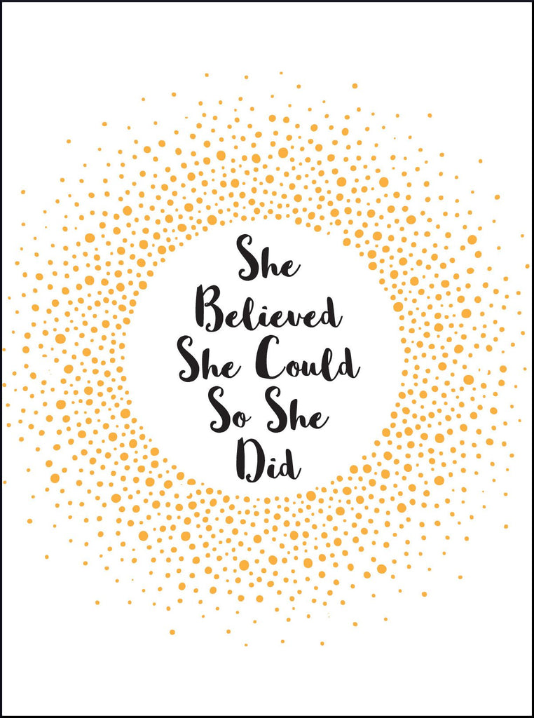 She Believed She Could So She Did Affirmation Cards - Spiffy