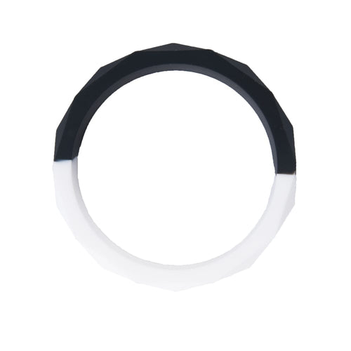 Chewable Bangle - Black and White - Sensory Toys - Spiffy