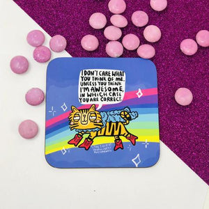 The Tiger of Unapologetic Awesomeness Coaster by Katie Abey - Spiffy