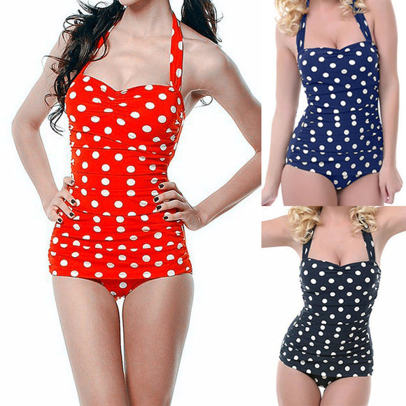 One Piece Women's Hot Sale Plus Dot Swimsuit - LoveTheVictory