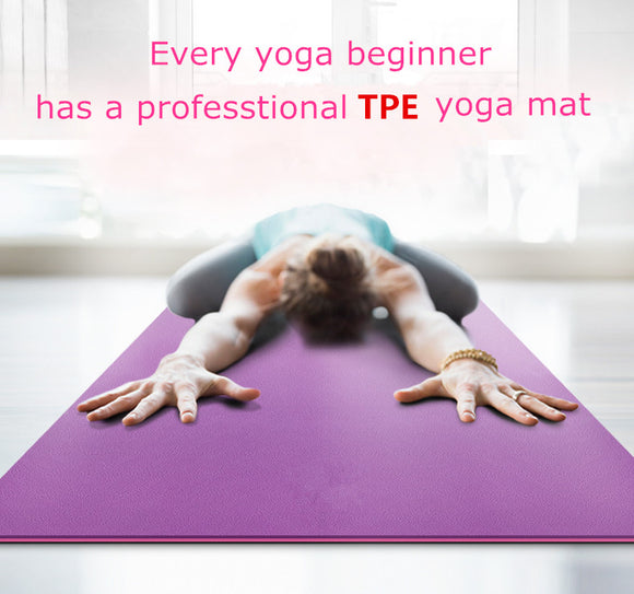 TPE Non-slip Yoga Mat with Yoga Bag - LoveTheVictory