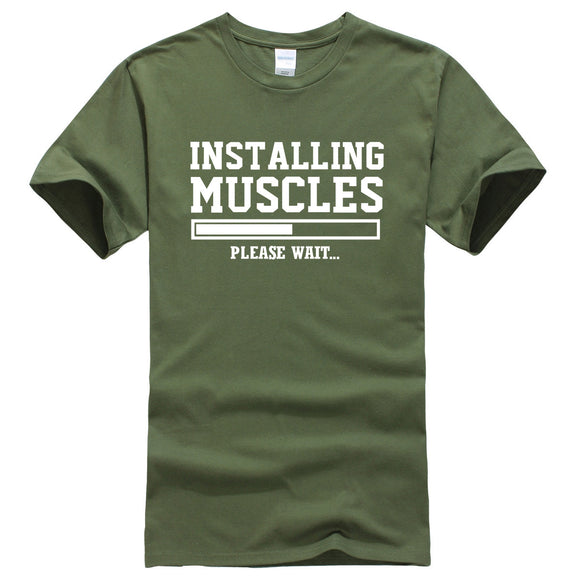 INSTALLING MUSCLES Men's Fitness T-shirt - LoveTheVictory
