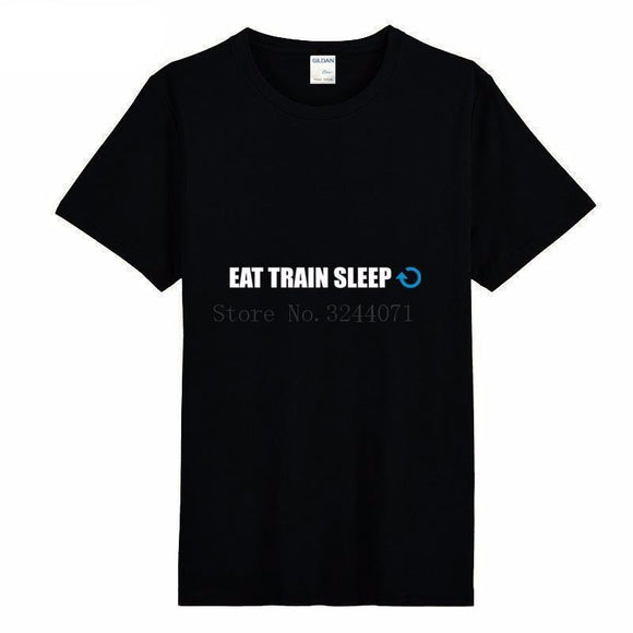 Eat Train Sleep Men's Fitness T-Shirt - LoveTheVictory