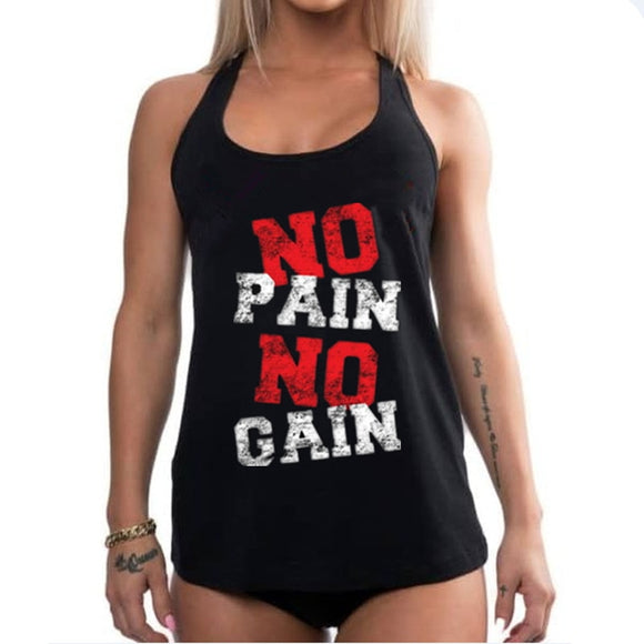NO PAIN NO GAIN - Women Bodybuilding Tank Tops - LoveTheVictory