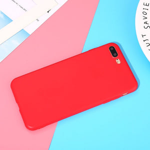 Silicone Frosted Matte iPhone Case - LoveTheVictory