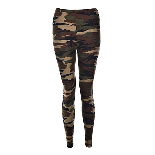 New Women's Camouflage Stretch Slim Pants - LoveTheVictory