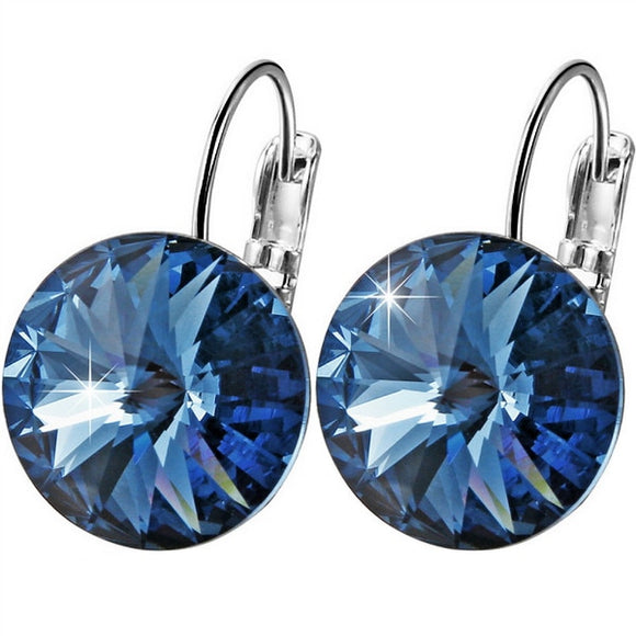 Women's Round Crystal Drop Earring - LoveTheVictory