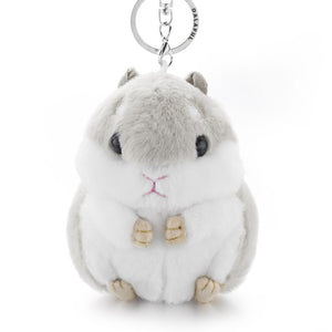 Faux Rabbit Mini Hamster Keychains - LoveTheVictory