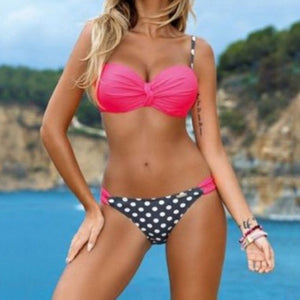 Ladies Sexy Triangle Striped Bikini Suit - LoveTheVictory