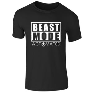 Mens Beast Mode Activated Gym T-shirt - LoveTheVictory