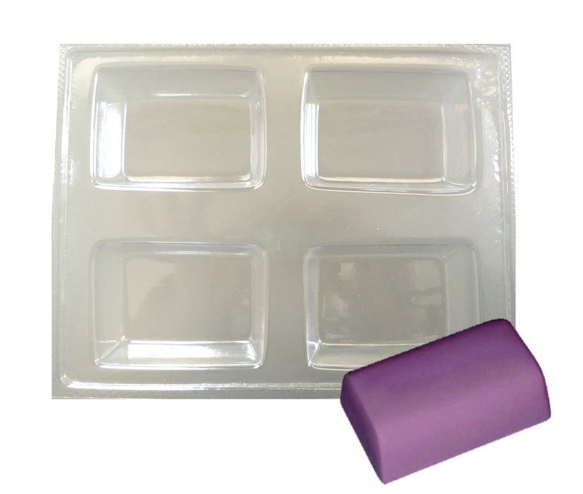 Curvy Rectangular Soap Mould (4 Cavity)
