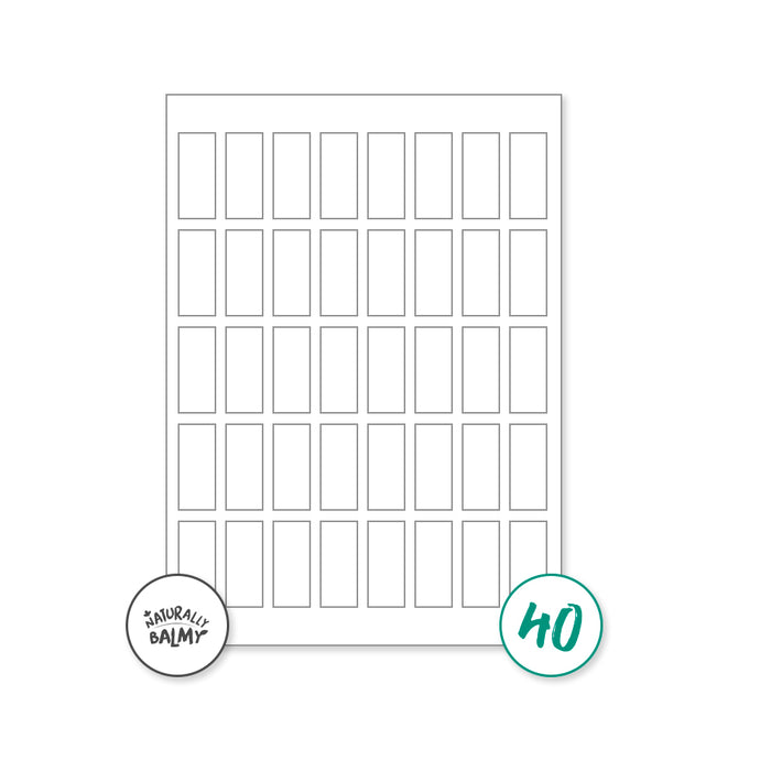 White High Gloss Labels (21.5 x 47mm)