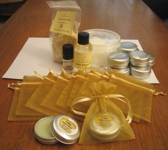 Make Your Own Organic Lemon & Coconut Hand & Foot Butters Kit (Makes 10)