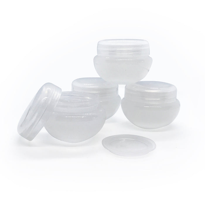 5ml Cosmetic 'Mushroom' Jars with Shive & Lid
