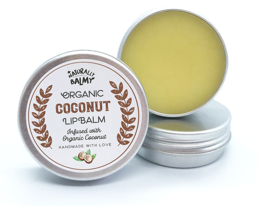 100% Natural Organic Lip Balm Tins