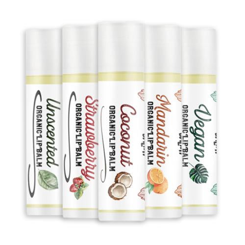 Natural, Luxury Organic Lip Balm Making Kit (Makes 15+ tubes)