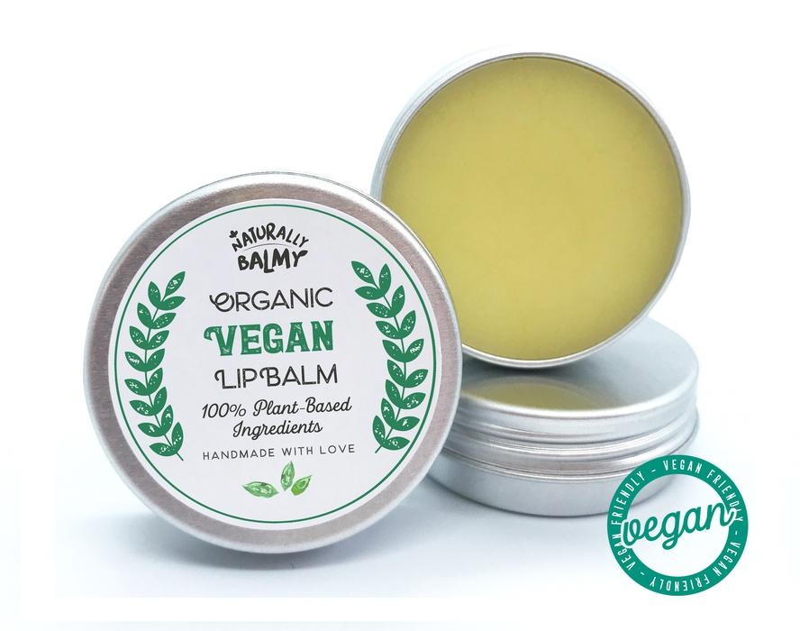 100% Natural, Vegan Lip Balm Tins (Wholesale) - 50 Tins