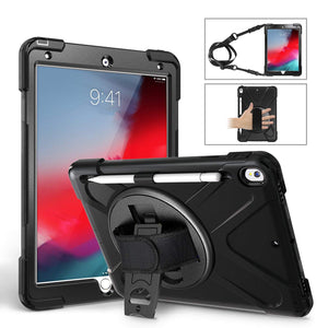 3-Layer Protective iPad Mini 5 /& 4 Case Shockproof Heavy Duty Rugged Cover Hand Grip /& Shoulder Strap//Pencil Holder 360 Rotatable Kickstand 7.9 inch A2133 a2124 a2126 a2125 a1538 a1550 2019