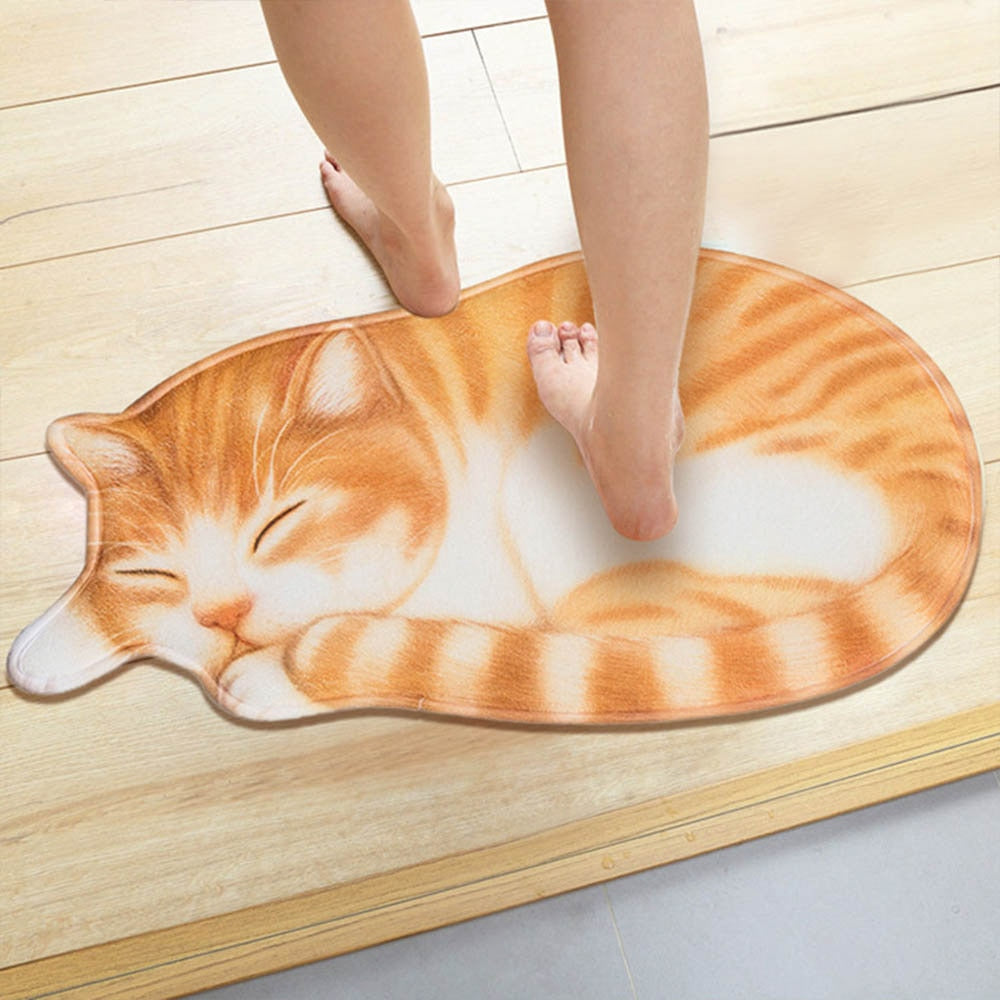 3D Cute Cat Floor ANTI SLIP DOORMATS
