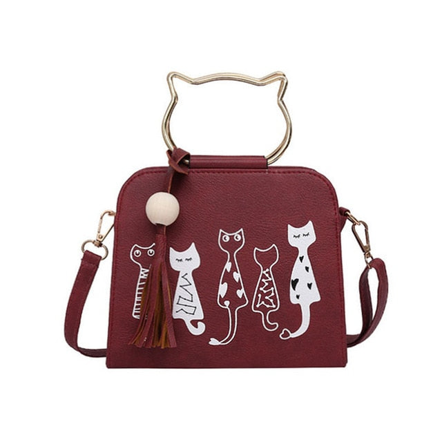 Cat Messenger Handbag