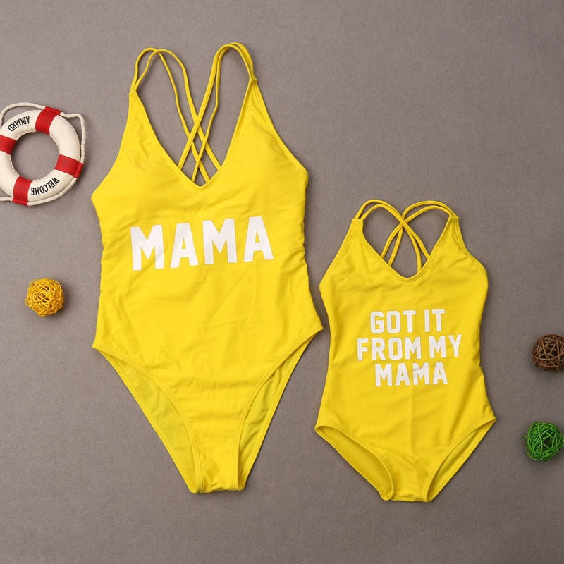 Cute Swimwear For Mama and Kid