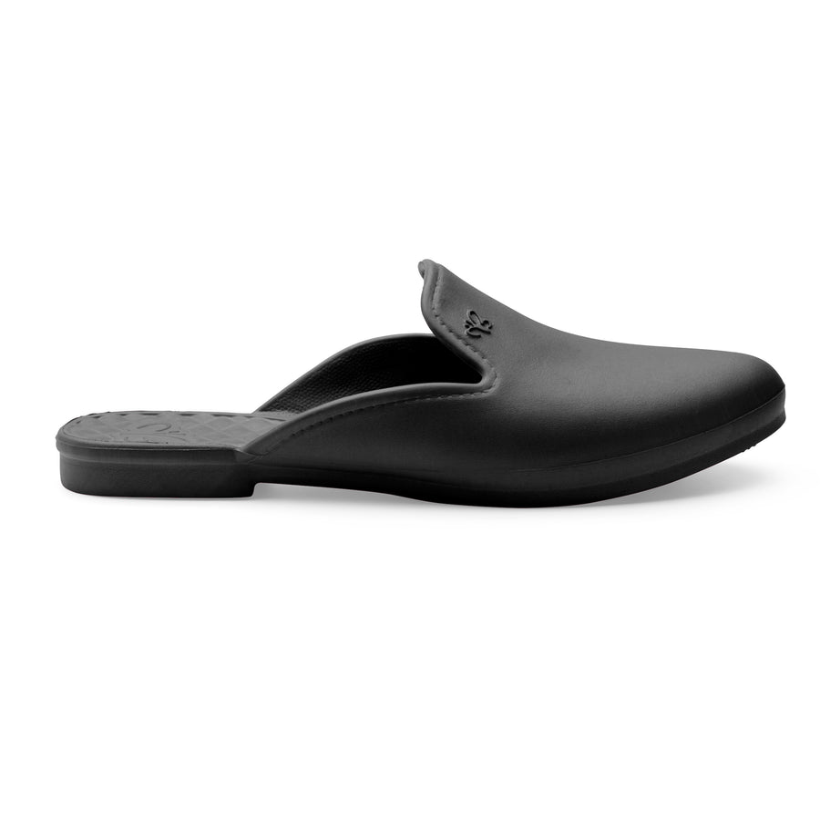 LIMITED TIME SALE Waterproof Loafer Mule - Black
