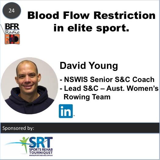 David Young NSWIS S&C Coach for Australia Women's Rowing team and uses Blood Flow Restriction to help train his athletes
