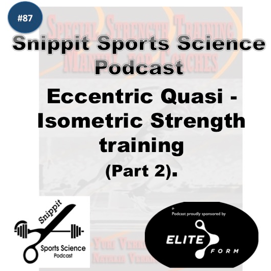 Isometric strength training - Snippit Sports Science Podcast. Blood Flow Restriction training.