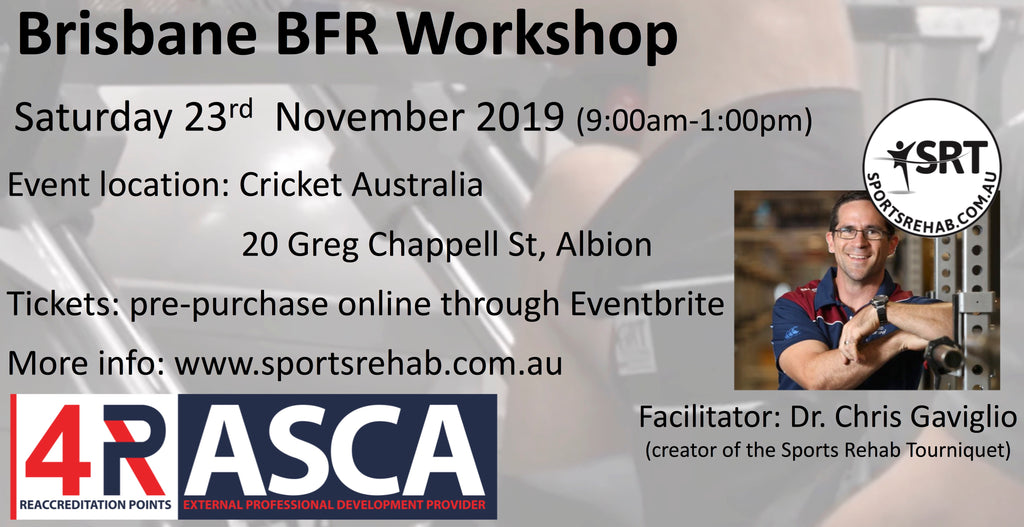 Brisbane BFR Workshop - Sat 23rd Nov (Link to purchase ticket in text)